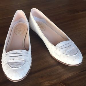 Beautiful genuine ostrich flats made in Italy